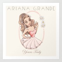 Yours Truly Art Print
