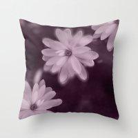 Magnolia dance (purple) Throw Pillow