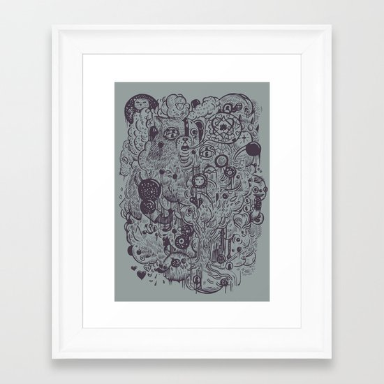 Polyphobic Vomit Framed Art Print