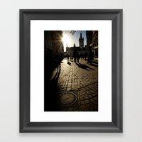 Trier Street Scene Framed Art Print