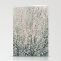 falling snow ...  Stationery Cards