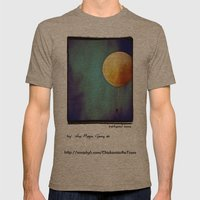 Tethered Moon Mens Fitted Tee Tri-Coffee SMALL