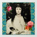 Alice Collage Canvas Print