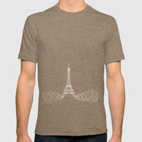 Paris by Friztin Mens Fitted Tee Tri-Coffee SMALL