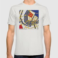 BOOGIE WOOGIE AMSTERDAM Mens Fitted Tee Silver SMALL