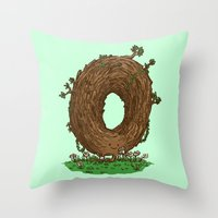 The Natural Donut Throw Pillow