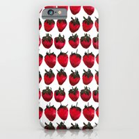 iPhone & iPod Case featuring little strawberries by Betul Donmez