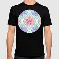 Indian Ink - Rainbow version Mens Fitted Tee Black SMALL