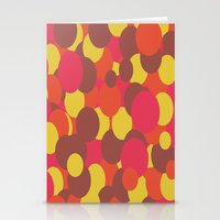 Autumn Retro Circles Des… Stationery Cards