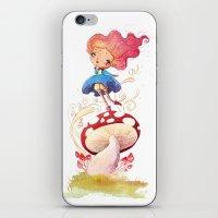 Girl And Shroom iPhone & iPod Skin