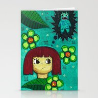 Fighting with your demons Stationery Cards