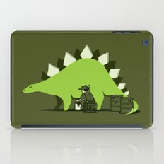 Crude oil comes from dinosaurs iPad Case
