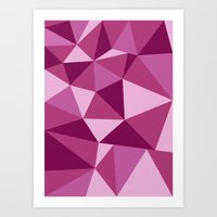Pink Geometric Art Print