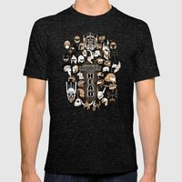 Helmets Of Fandom - Resp… Mens Fitted Tee Tri-Black SMALL