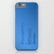 5% creativity + 95% work = design Slim Case iPhone 6s