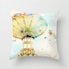 Step back into fun Throw Pillow