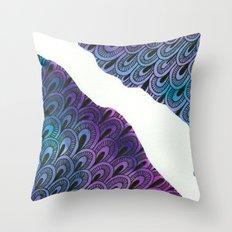 Watercolor Zentangle Throw Pillow