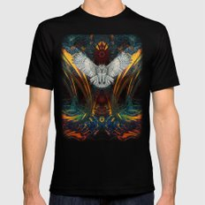 The Great Grey Owl SMALL Mens Fitted Tee Black