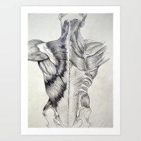 Human Structure Art Print