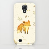 Lonely Winter Fox Galaxy S4 Slim Case