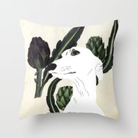 THE QUEEN OF HEARTS Throw Pillow