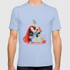 Skills (Thor) Mens Fitted Tee Tri-Blue SMALL