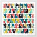 baby llamas Art Print