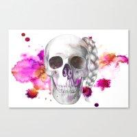 Braided Skull Canvas Print