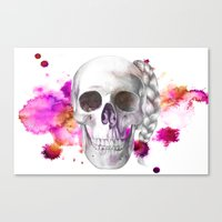 Braided Skull Canvas Print