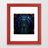 Emperor's Wrath Darth Va… Framed Art Print