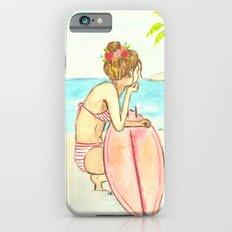 Surfer Girl Watercolor iPhone 6 Slim Case