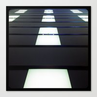 Walking on the ceiling. Canvas Print