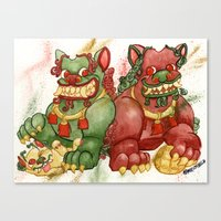 Happy Happy Foo Foo Canvas Print