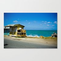 Shack By The Sea Canvas Print