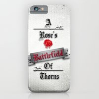 iPhone & iPod Case featuring A Rose's Battlefield by Daniella Gallistl