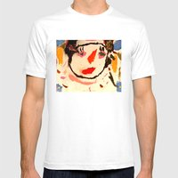 Carly Mens Fitted Tee White SMALL