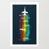 Colored Flight Art Print