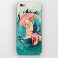 Jellyfish tangling iPhone & iPod Skin