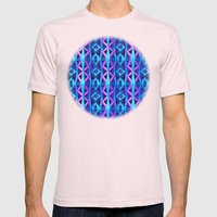 Blue/Purple Metallic Pattern Mens Fitted Tee Light Pink SMALL