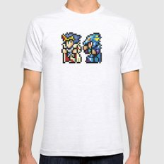 Final Fantasy II - Cecil and Kain Mens Fitted Tee Ash Grey SMALL