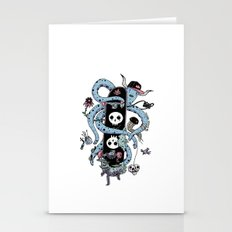 Octopus Skate Color Stationery Cards
