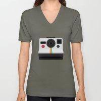 Polaroid One Step Land Camera Unisex V-Neck