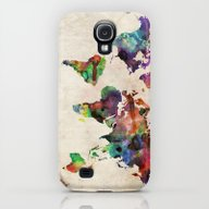 World Map Urban Watercol… Galaxy S4 Slim Case