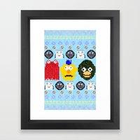 Don't Hug Me I'm Sweater Framed Art Print