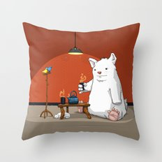 Tea for Three Throw Pillow