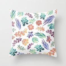 summertime succulents Throw Pillow