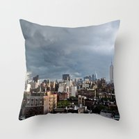 Taking The City By Storm Throw Pillow