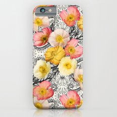 Collage of Poppies and Pattern Slim Case iPhone 6s