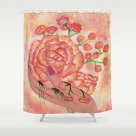 Shower Curtain featuring Watercolor Painting, FRA… by Saribelle Inspiratio…
