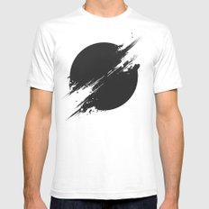 The Sun Is Black SMALL Mens Fitted Tee White